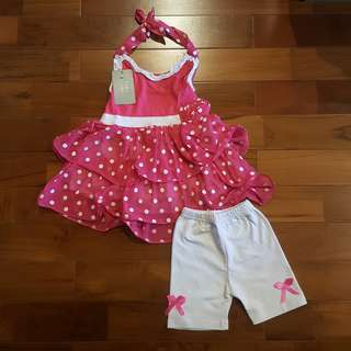 Girl polkadot top set pant