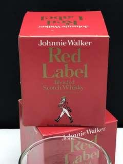 Vintage Johnnie Walker Red Label Whisky Rocks Glass