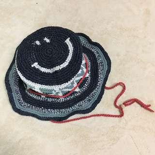🚚 🇯🇵尼泊爾製笑臉編織遮陽帽