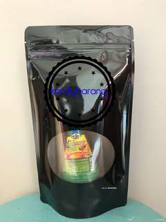 Black Standable Zip Lock Bag 17x29cm