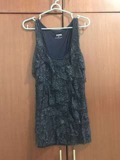 Express Metallic Black Mini Dress