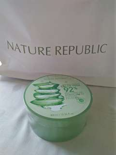 Aloe Vera 92% Soothing Gel Nature Republic Original 300ml