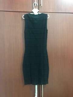 Body n Soul Black Stripes Bodycon Dress