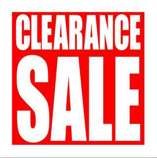 Clearance sales at The Barang Shop is now on! Reduced to clear..all must go!!