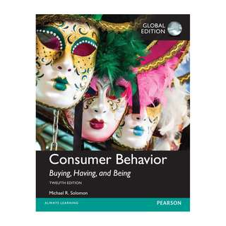 Consumer Behavior 12th Global Ed - Michael R. Solomon