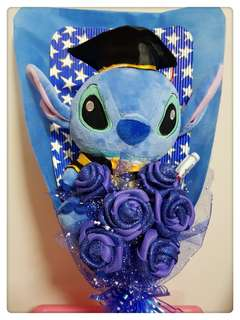 Stitch Graduation Bouquet with Handmade Foam Roses