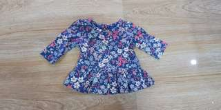 Preloved baby gap blouse 0 to 3 months