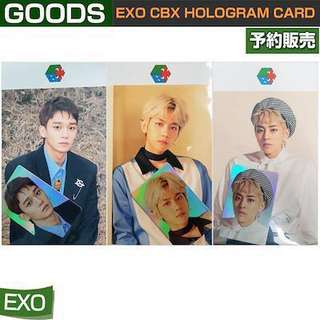 EXO CBX HOLOGRAM CARD SET