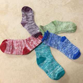 🚚 純棉多色中筒襪