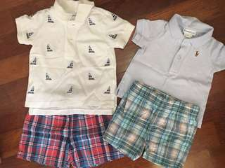 Polo T ( Ralph Lauren) and Pants (Carter's) Set