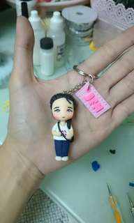 2inch chibi keychain with nameplate