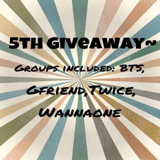 Giveaway #5~