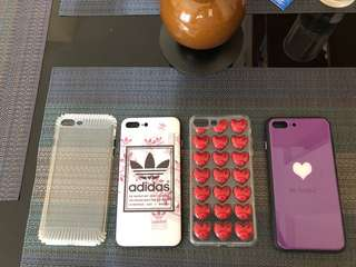 iPhone 8 Plus or 7 plus cases. All rubber sides for scratch free. All brand new. Sold as set or 300 each plus SF.