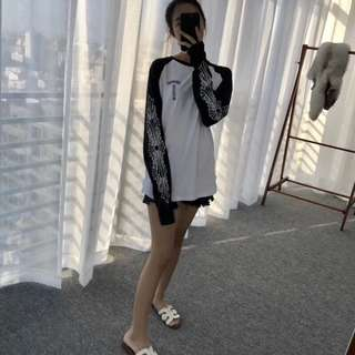 2018年Chrome Hearts早秋黑白拼接長袖T恤 長袖上衣 時尚款