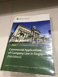 Commercial Applications of Company Law in Singapore (5th Edition)