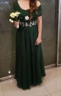 infinity green dress