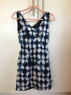 Sky blue patterned dress