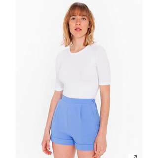 Blue American Apparel crepe shorts sz L