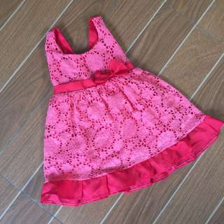 Coral Red Baby Dress