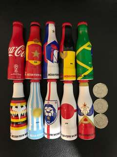 Coca-Cola FIFA World Cup Miniature Aluminum Bottles 2018