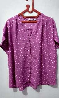 Uniqlo blouse polkadot