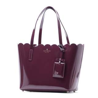 Kate Spade Lily Avenue Patent Carrigan (Mahogany/Radish) 💯% Authentic from 🇺🇸