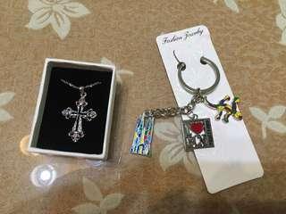 🚚 十字架項鍊、巴賽隆納鑰匙圈