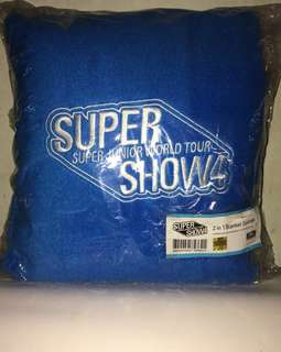 Super Junior Super Show 4 Official 2in1 Pillow/Blanket