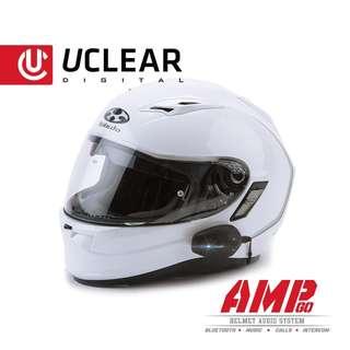 AMPGO motorcycle helmet headset