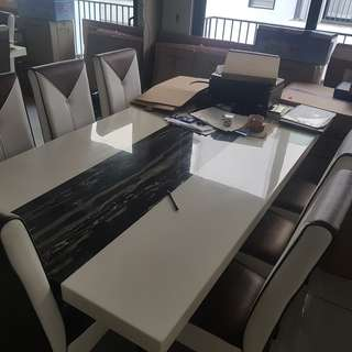 8 Seater Artificial Marble Dining Table
