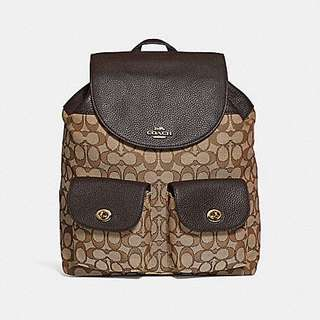 AUTHENTIC COACH BILLIE BACKPACK IN SIGNATURE JACQUARD   (F30275)
