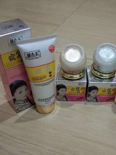 Paket cream siang malam herbal cordy + cleanser
