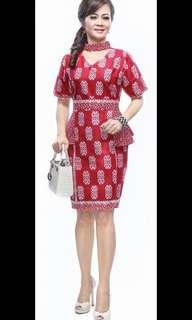 Jual murah dress baru new batik keren