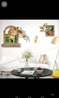 Giraffe wall stickers diy home decor