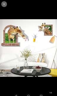 Giraffe wall stickers diy home decor