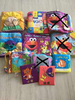 Huge lot of cloth books for baby toddlers
