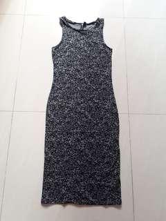 Dress hitam panjang cotton on
