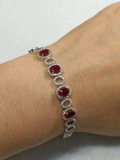 Ruby bracelet with diamond 紅寶石手鏈