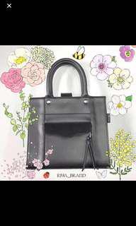 black handle bag