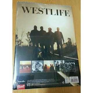 全新Westlife 官方2013月曆A3size