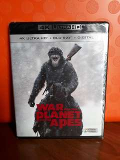 USA Blu Ray 4K UHD - War for the Planet of the Apes 4K (ATMOS)