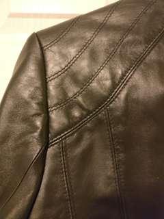Woman Black Leather Jacket, S
