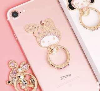 My Melody 手機鑲鑽指環扣 女款通用iPhone