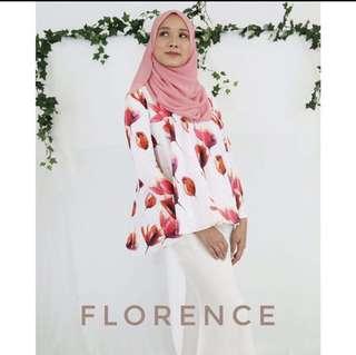 Florence Red & White Kurung