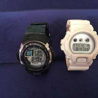 Authentic Casio G-Shock Watches  G-7700 Black and White DW6900WW
