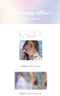 "[GO] Chungha Mwave Signed album ""Blooming Blue"""