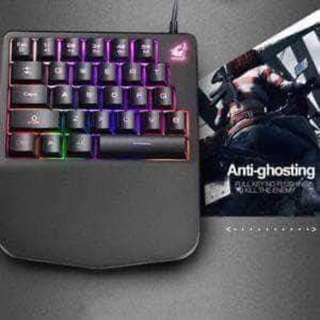 Freewolf K11 Wired 28 Keys Rainbow LED