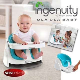 Bright Starts Ingenuity Baby Base 2 in 1™  Seat - ( Blue/Red/Green/Slate)