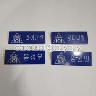 Produce 101 Nametags
