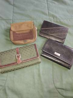 Pre loved wallets branded 4pcs